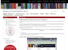 Thumbnail: Capstone and Thesis Research Guide